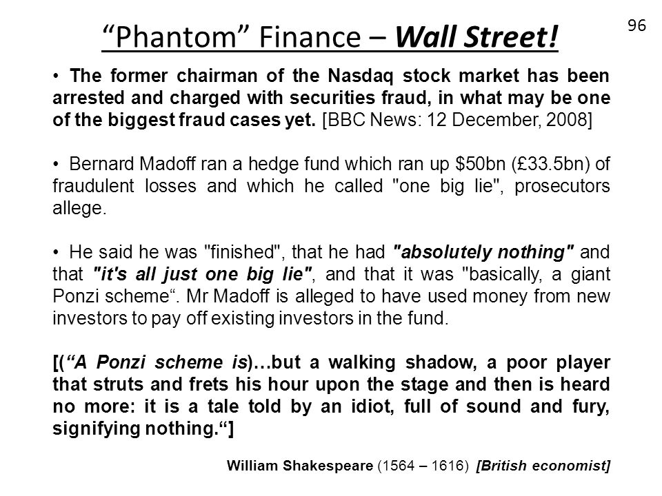 Phantom Finance – Wall Street!