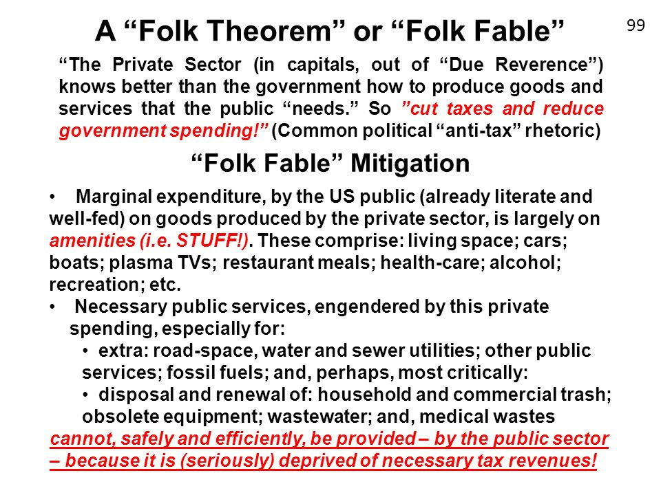 A Folk Theorem or Folk Fable Folk Fable Mitigation