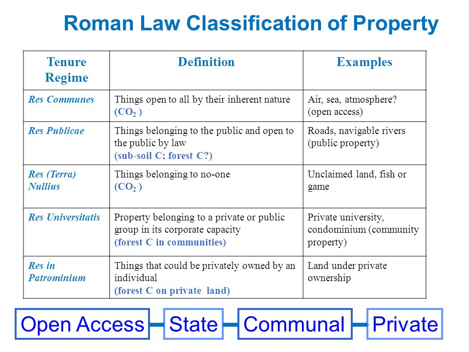 Roman Law Classification of Property