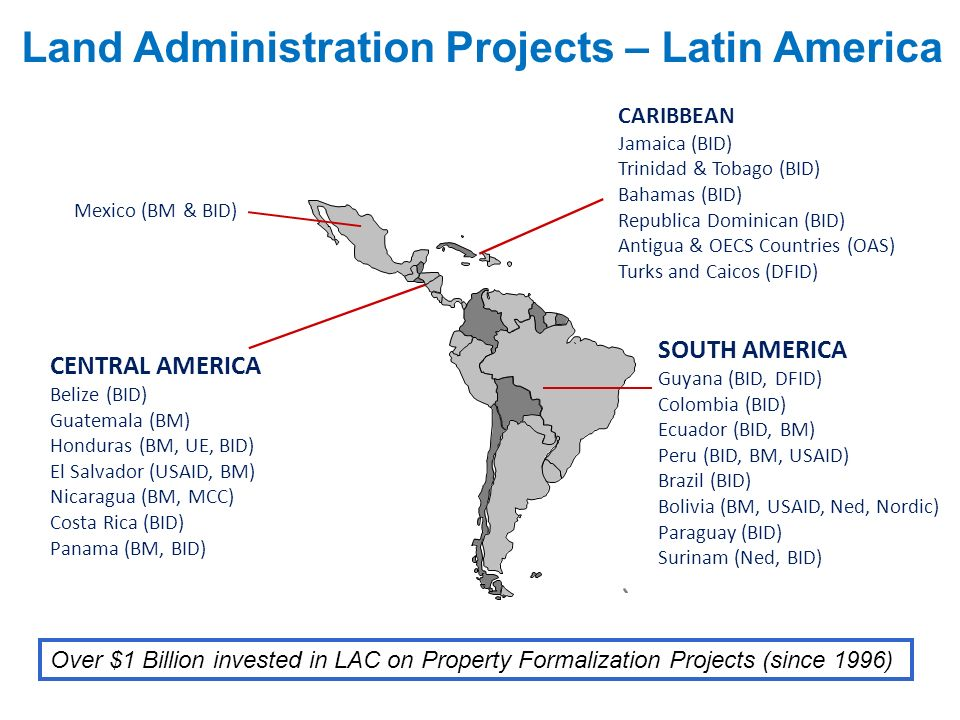Land Administration Projects – Latin America