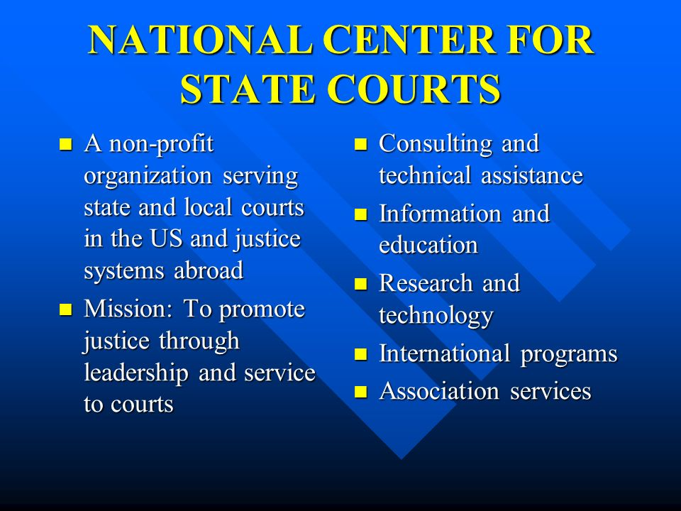 NATIONAL CENTER FOR STATE COURTS