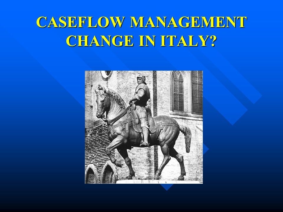 CASEFLOW MANAGEMENT CHANGE IN ITALY