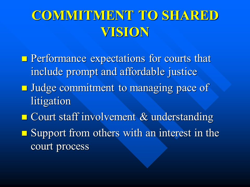 COMMITMENT TO SHARED VISION