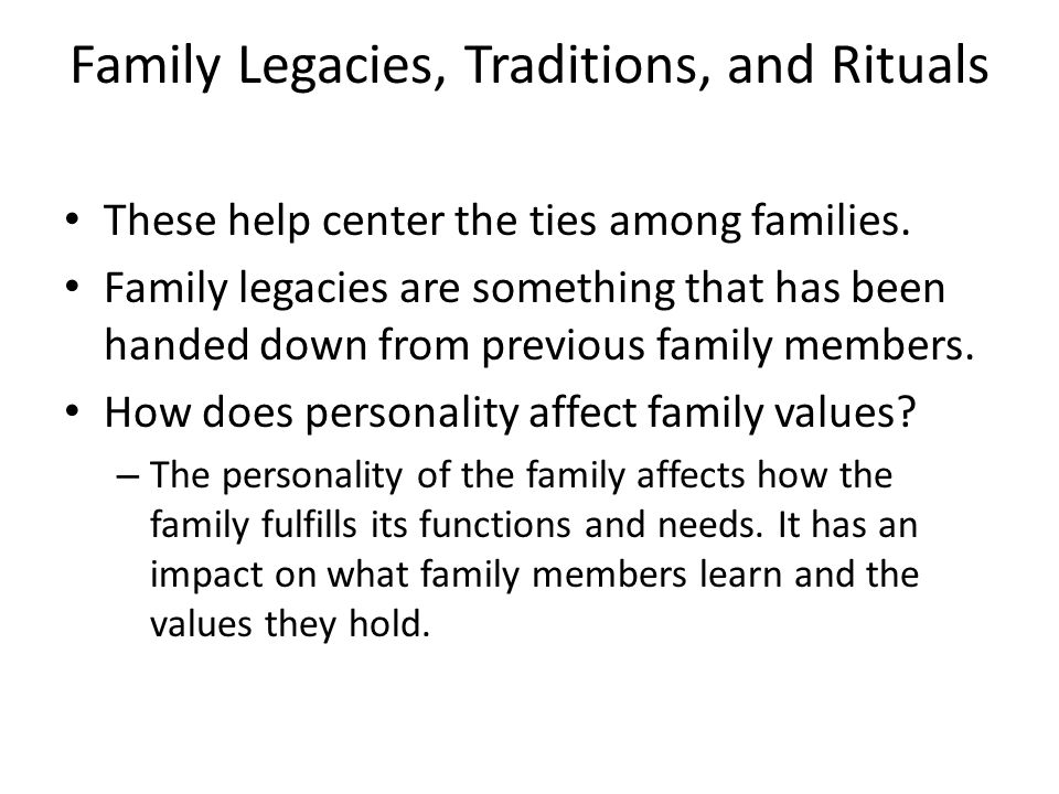 how family affects personality