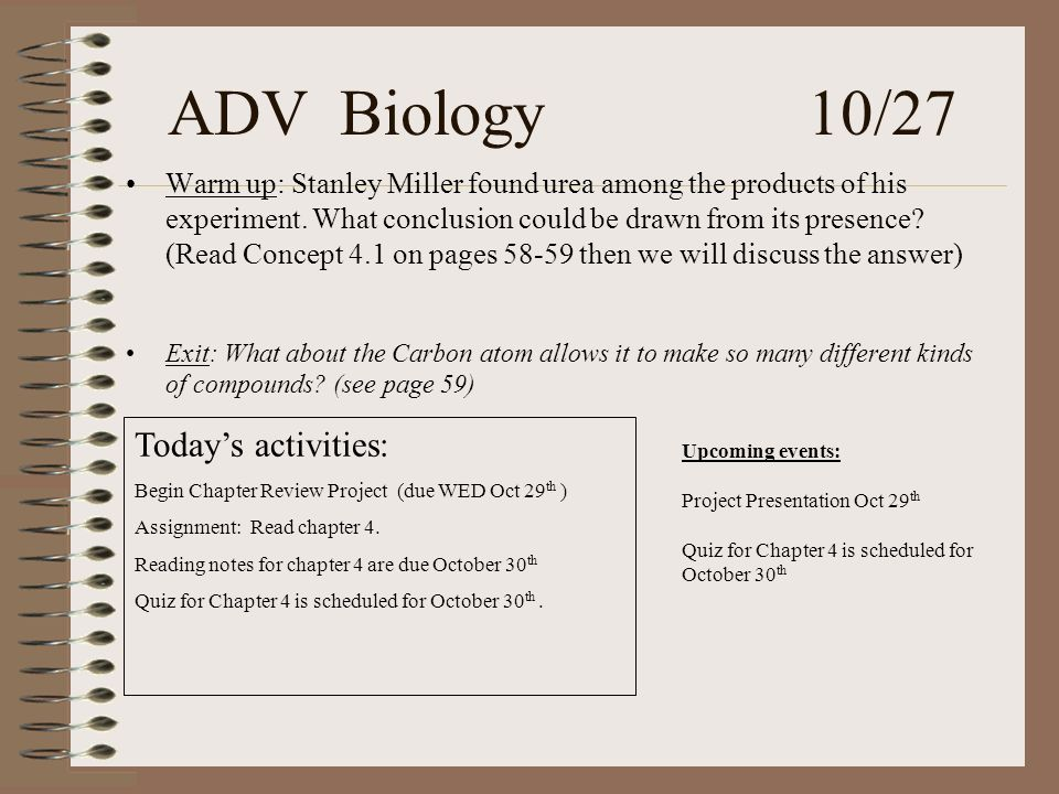 ADV Biology 1 6 Warm Up Describe Something Besides Temperature That The Human Body Must Keep In Balance Explain What The Body Does