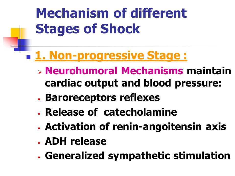 Mechanism of different Stages of Shock
