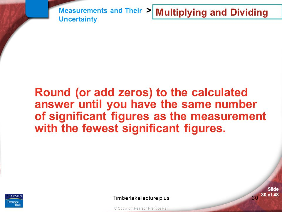 Multiplying and Dividing