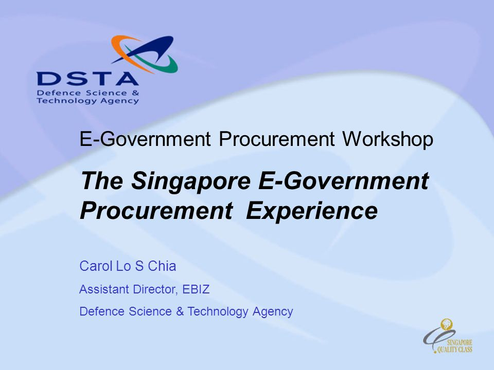 The Singapore E-Government Procurement Experience