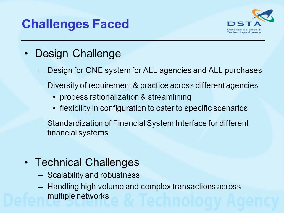 Challenges Faced Design Challenge Technical Challenges