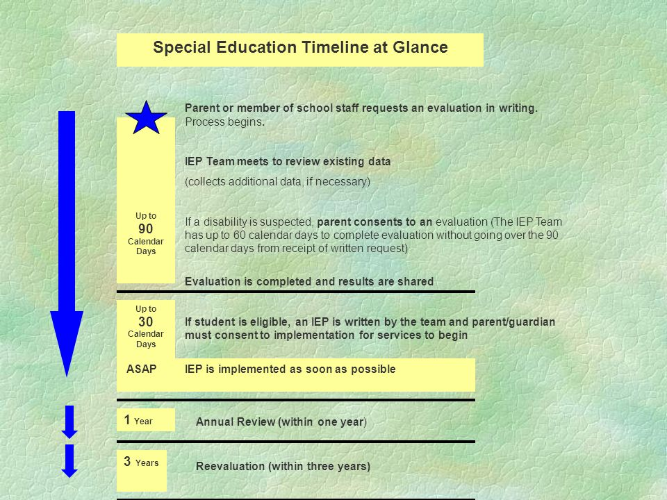Special Education Timeline at Glance