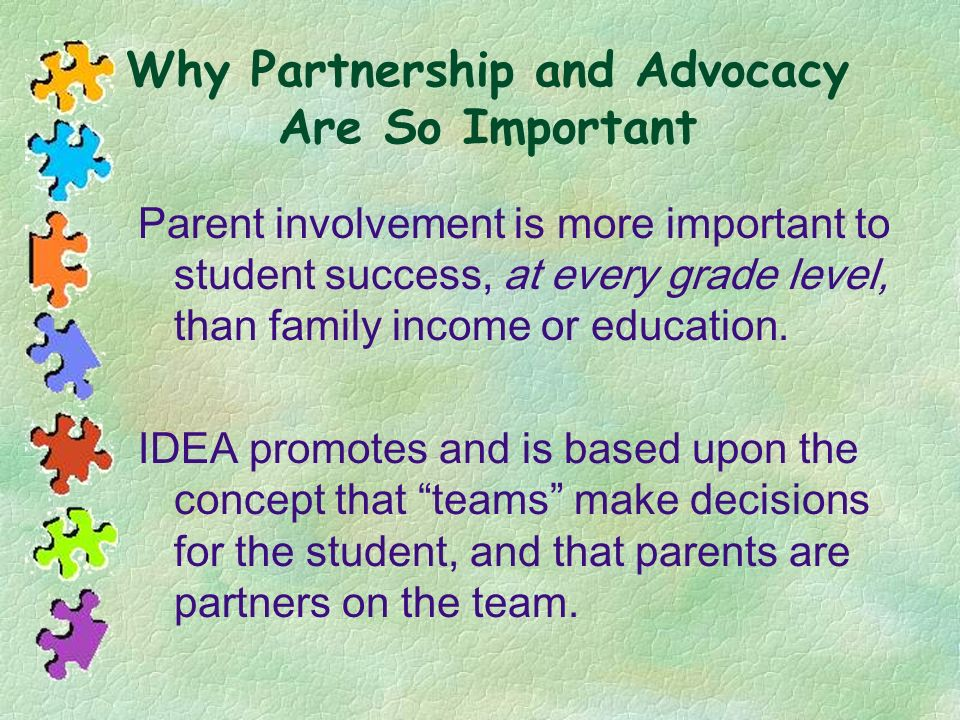 Why Partnership and Advocacy Are So Important