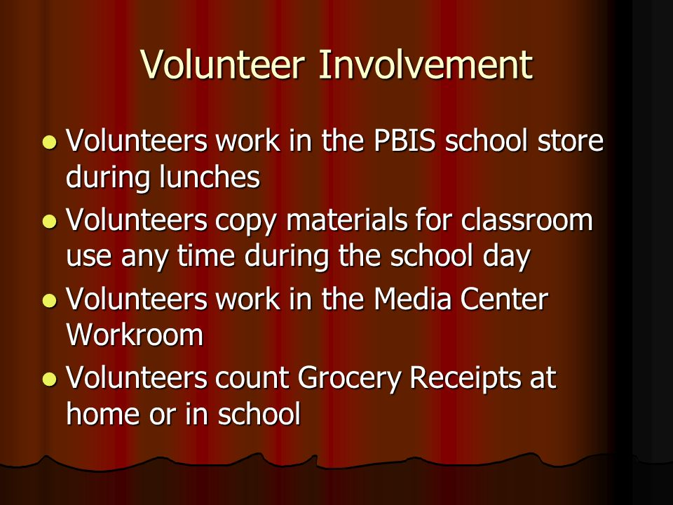 Volunteer Involvement