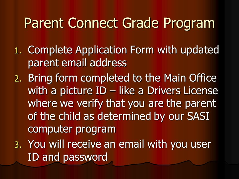 Parent Connect Grade Program