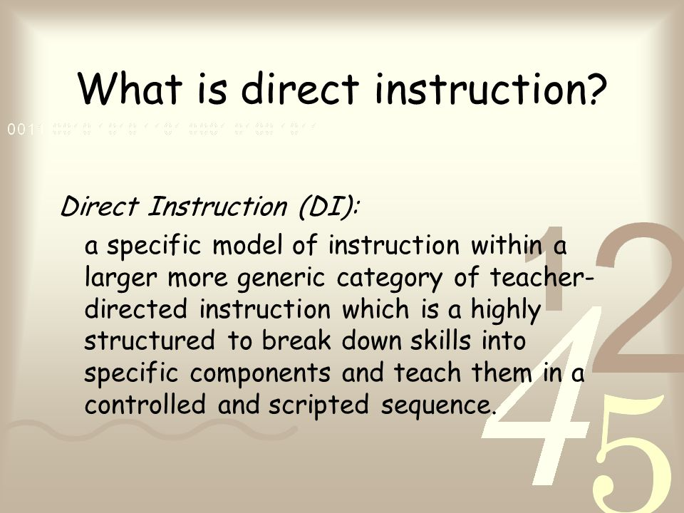 Direct Instruction System For Teaching Arithmetic And Reading Ppt