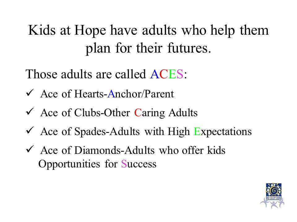 Kids at Hope have adults who help them plan for their futures.