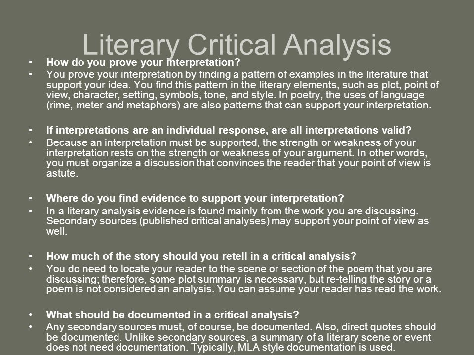 how to do a literary analysis of a poem
