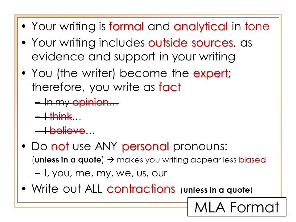 write in mla format