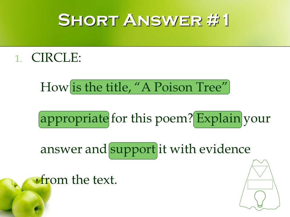 a poison tree literal meaning