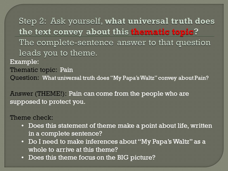universal truth examples