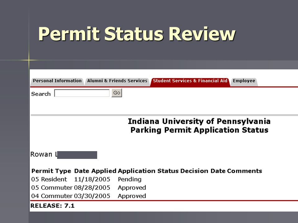 Permit Status Review