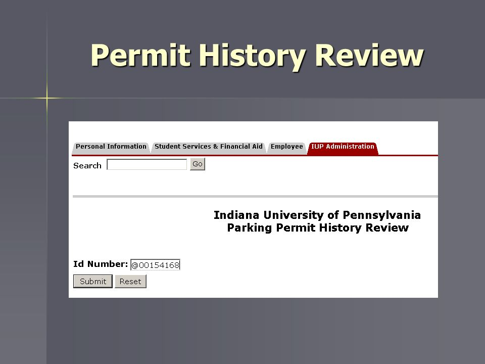 Permit History Review