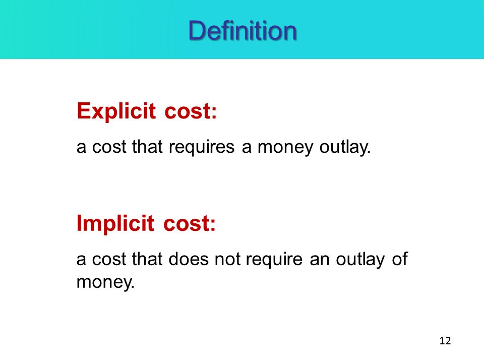 implicit cost definition