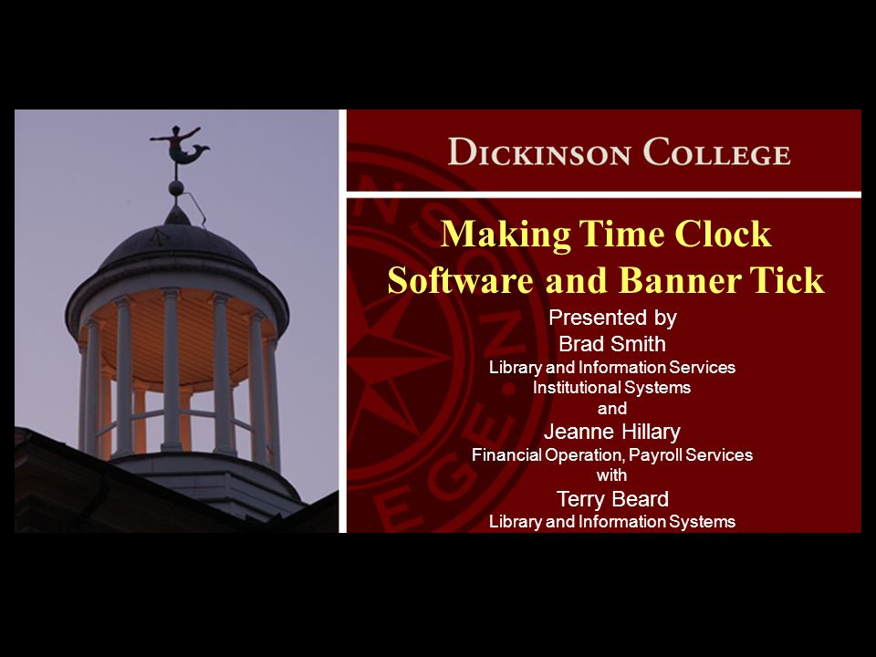 Making Time Clock Software and Banner Tick