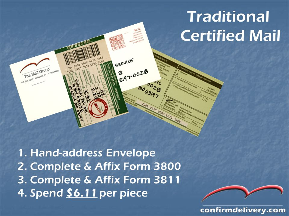traditional certified mail 1 hand address envelope ppt download