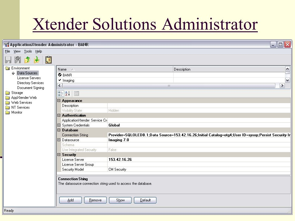 Xtender Solutions Administrator