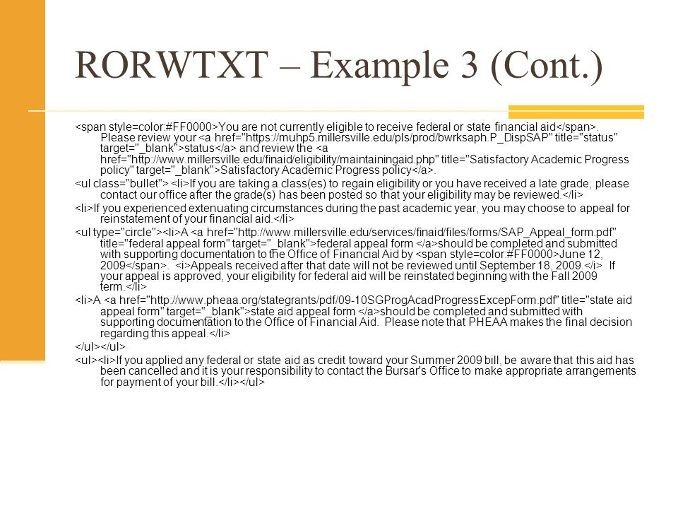 RORWTXT – Example 3 (Cont.)