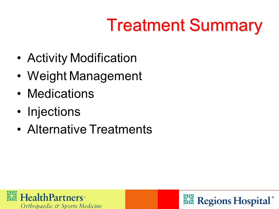 Treatment Summary Activity Modification Weight Management Medications