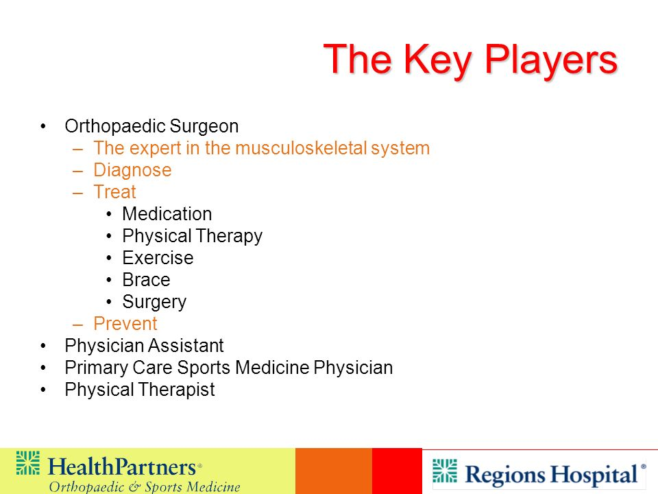 The Key Players Orthopaedic Surgeon