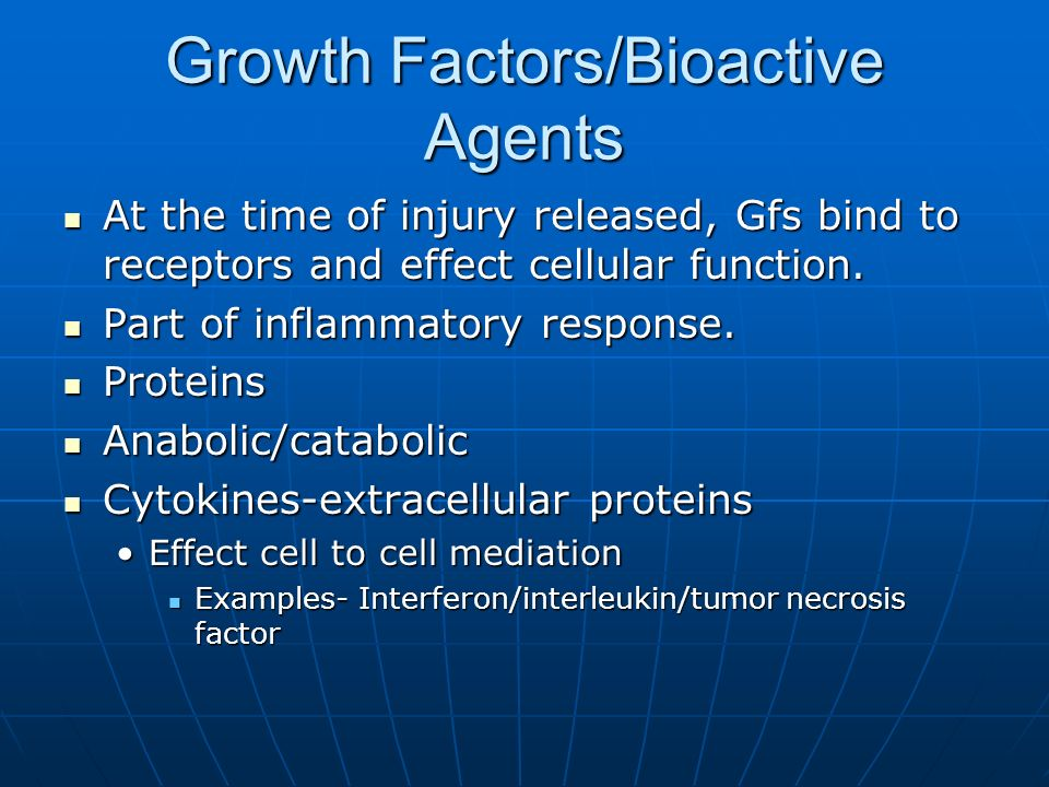 Growth Factors/Bioactive Agents