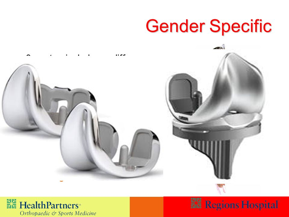 Gender Specific 3 anatomical shape differences Females are narrower