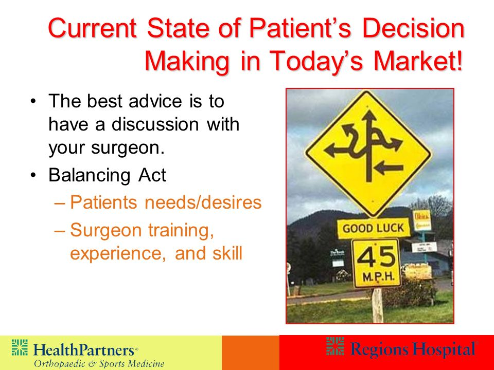 Current State of Patient's Decision Making in Today's Market!