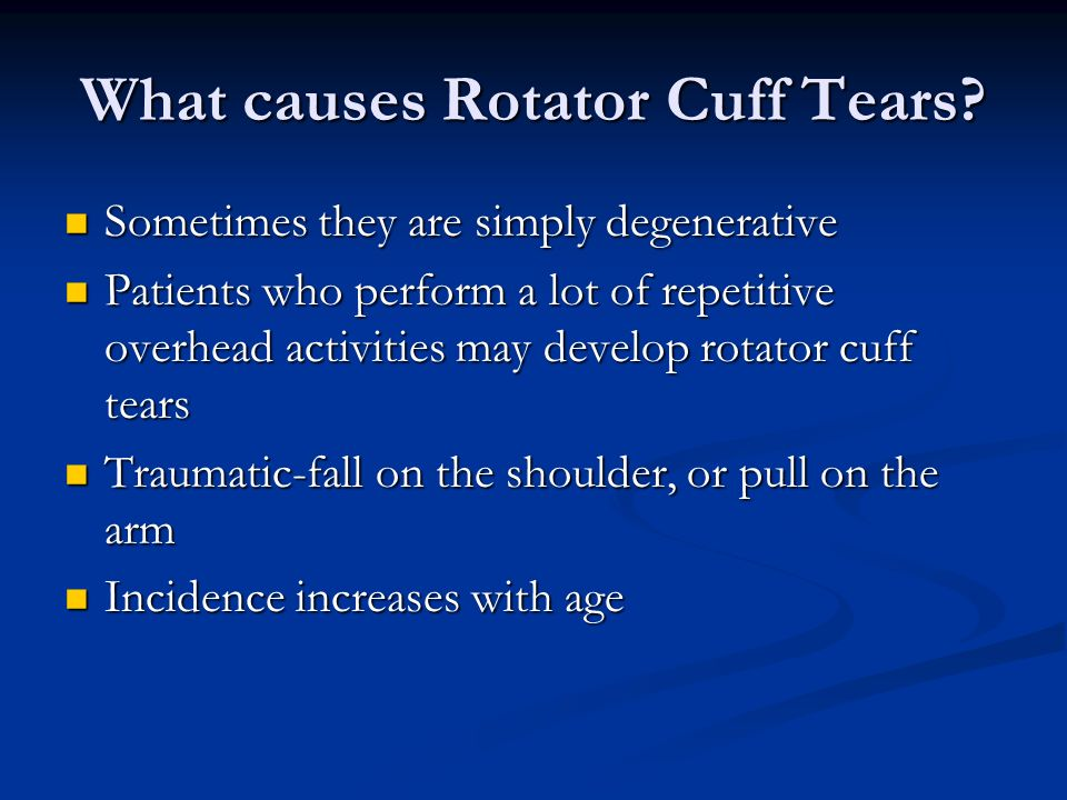 What causes Rotator Cuff Tears
