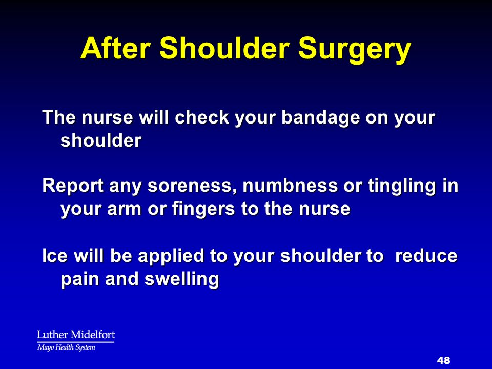 After Shoulder Surgery