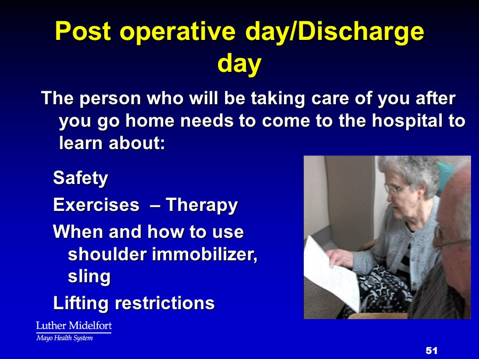 Post operative day/Discharge day