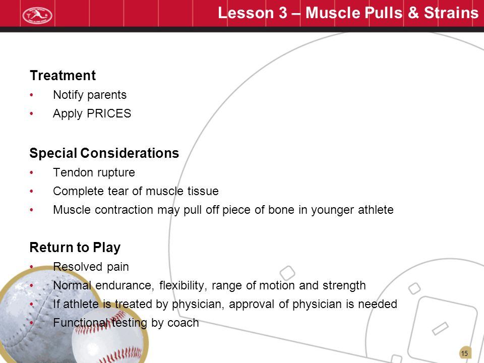 Lesson 3 – Muscle Pulls & Strains