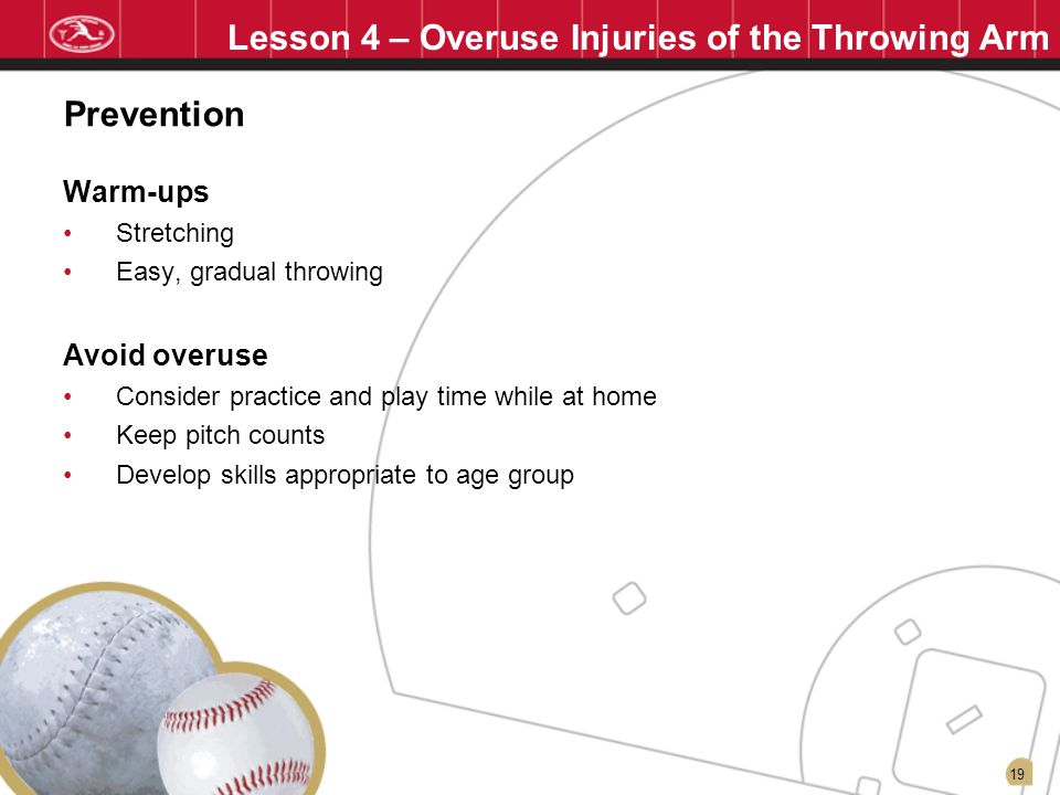 Lesson 4 – Overuse Injuries of the Throwing Arm