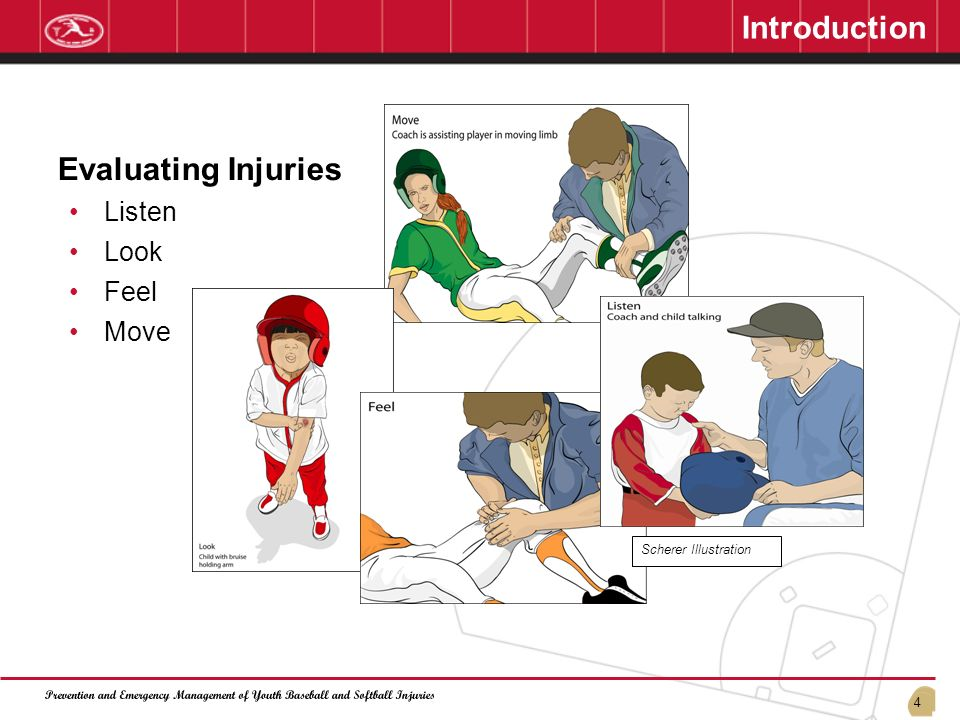 Introduction Evaluating Injuries Listen Look Feel Move 01/13/07