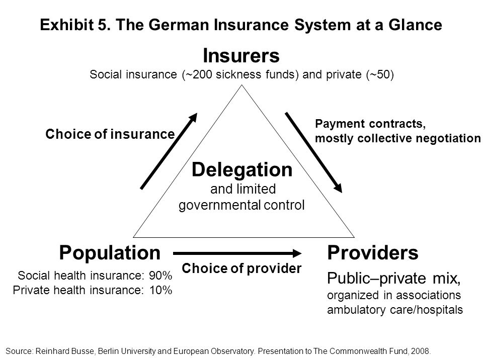 Exhibit 5. The German Insurance System at a Glance