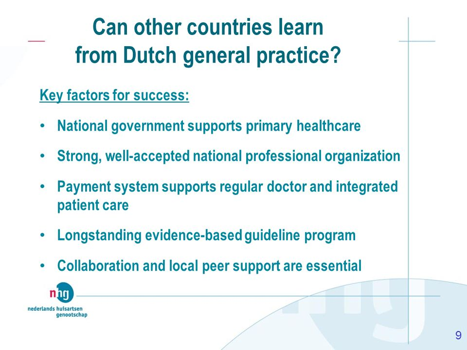 Can other countries learn from Dutch general practice