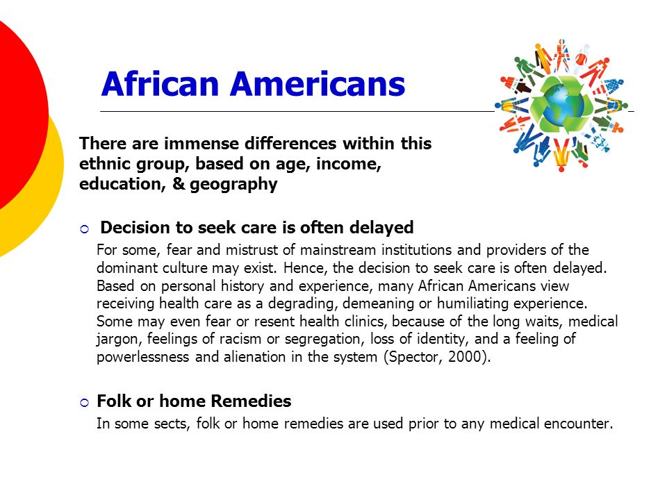 African Americans There are immense differences within this