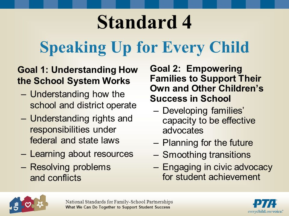 Standard 4 Speaking Up for Every Child