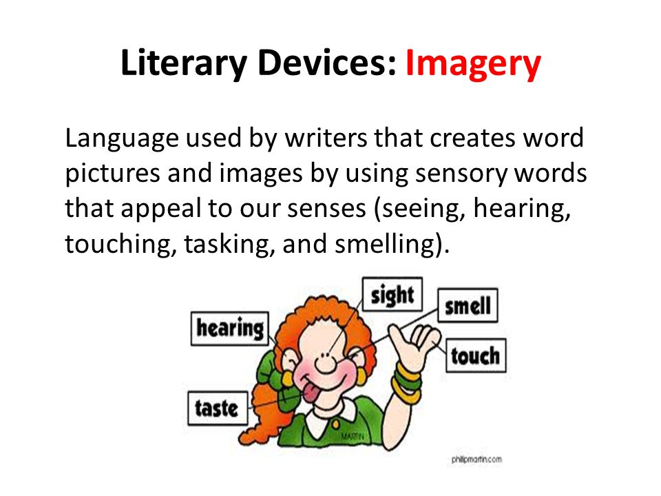 imagery literary device