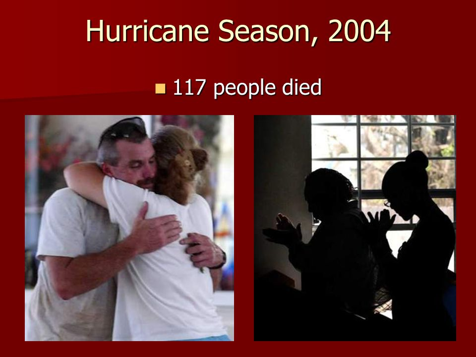 Hurricane Season, 2004 117 people died