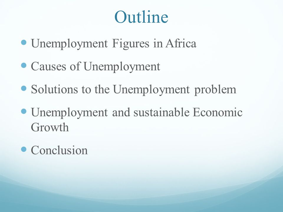 research paper outline on unemployment