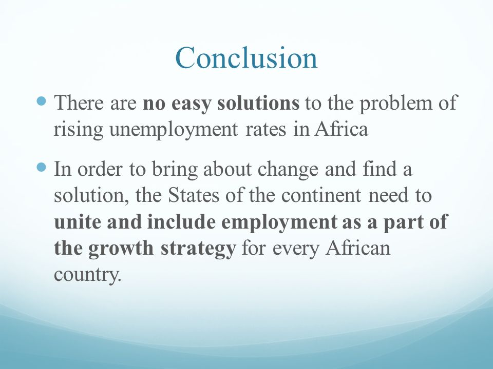 unemployment solutions to the unemployment problem