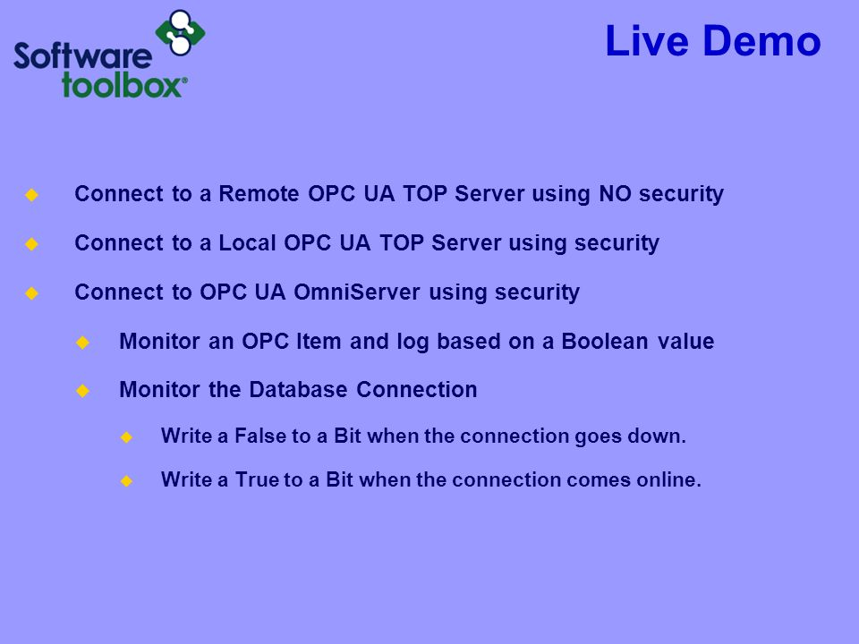 OPC Data Logger New Release - ppt video online download